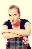 Teen tennis player — Stock Photo