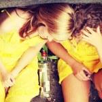 Teens alcohol addiction — Stock Photo #41532283