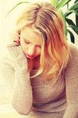 Maltrattati o depresso — Foto Stock
