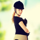 Jockey woman — Stock Photo
