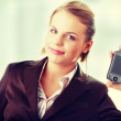 Businesswoman using a pda — Stock Photo #41541351