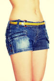 Slim waistline of the woman — Stock Photo