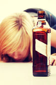 Teen alcohol addiction — Stock Photo