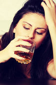 Alcohol addicted — Stock Photo