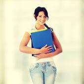 Ragazza studentessa felice — Foto Stock