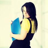 年轻的 corpulency 学生女人 — 图库照片