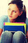 うつ病を持つ学生女性 — ストック写真