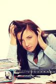 Exhausted female — Stockfoto