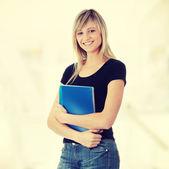 Student woman — Stock Photo