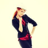 Confident female worker — Stockfoto