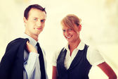Young attractive business people — Foto de Stock
