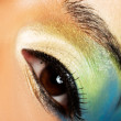 Stock Photo: Eye Makeup close up.