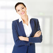 Businesswoman or student in elegant clothes  — Stockfoto