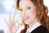 Business woman with perfect gesture — Stock Photo