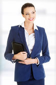 Attractive happy businesswoman — Stock Photo