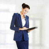 Businesswoman using tablet computer — Stock Photo