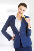Young happy businesswoman — Stock Photo