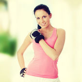 Woman redy for Exercise — Stock Photo