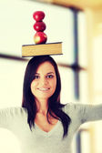Beautiful student woman — Stock Photo