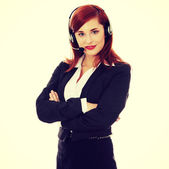 Call-center assistant — Stock Photo