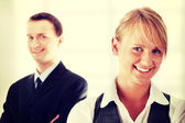 Young attractive business people — Foto Stock