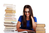 Young woman student with book. — Stock Photo
