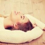 Woman lying on the floor. — Stock Photo #45275819