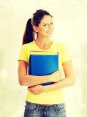 Happy student girl — Stock Photo