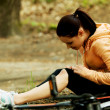 Wounded woman was falled off bicyle — Stock Photo #46982735