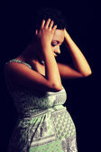Depression and stress of pregnant woman — Stock Photo