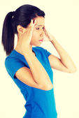 Woman with headache or problem — Stock Photo