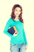 Woman with a book — Stock Photo