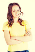 Girl in casual clothes — Stock Photo