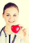 Nurse with heart — Stock Photo