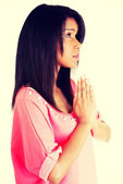 Girl praying — Stock Photo