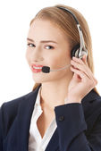 Call center girl. — Stock Photo