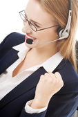 Business woman at call center. — Stock Photo