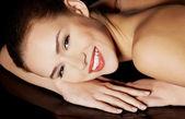 Beautiful topless caucasian woman. — Stock Photo