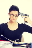 Female killing her self — Stock Photo