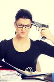 Female killing her self — Stock Photo