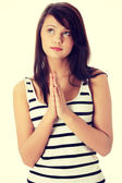 Woman praying — Stock Photo
