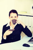 Break for business woman. — Stock Photo