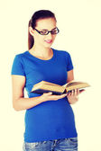 Student with book. — Foto Stock