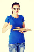 Student with book. — Stockfoto