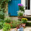 Stock Photo: Patio of house