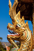 Naga in Wat Phra Singh, Chiang Mai, Thailand — Stock Photo