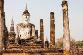 Buddha v sukhothai, thajsko — Stock fotografie