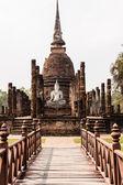 Wat Sa Si, Sukhothai, Thailand — Stock Photo