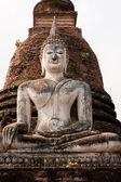 будда в wat sa si, сукхотай, таиланд — Стоковое фото