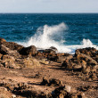 Coast line on Lanzarote, Canary island — Stock Photo